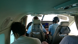Steve our Pilot in the Left Seat