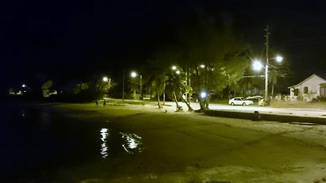 Looking toward Andy's at night