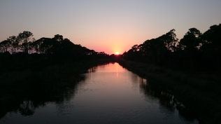 Sunset over the preserve at end of Boundary Rd