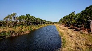 former wilderness has been dredged in the preserve