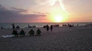 Celebrating sunset