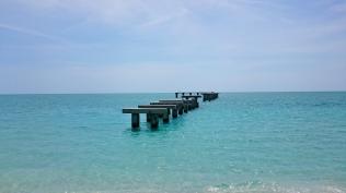 Ruined pier, Gasparilla State Park beach