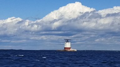 Red Rock Lighthouse approaching Parry Sound